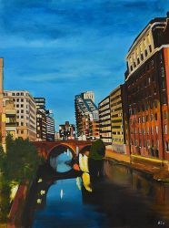 Painting of the Bridgewater Canal in Manchester