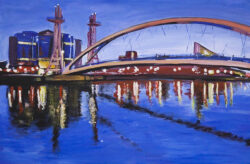 Angela Wakefield Millenium-Bridge Salford Quays