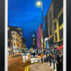 Painting of Deansgate Manchester by British Artist Angela Wakefield