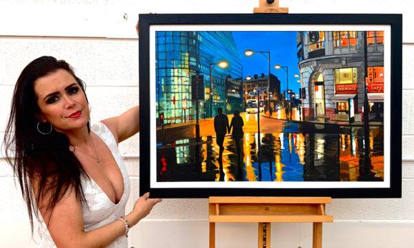Painting of Manchester by British Urban Landscape Artist Angela Wakefield