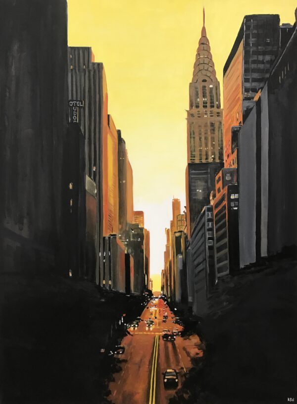 42nd Street Urban Landscape Painting