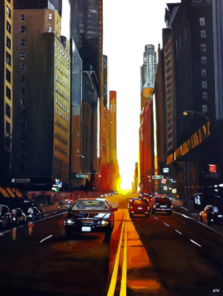 Painting of New York by Angela Wakefield