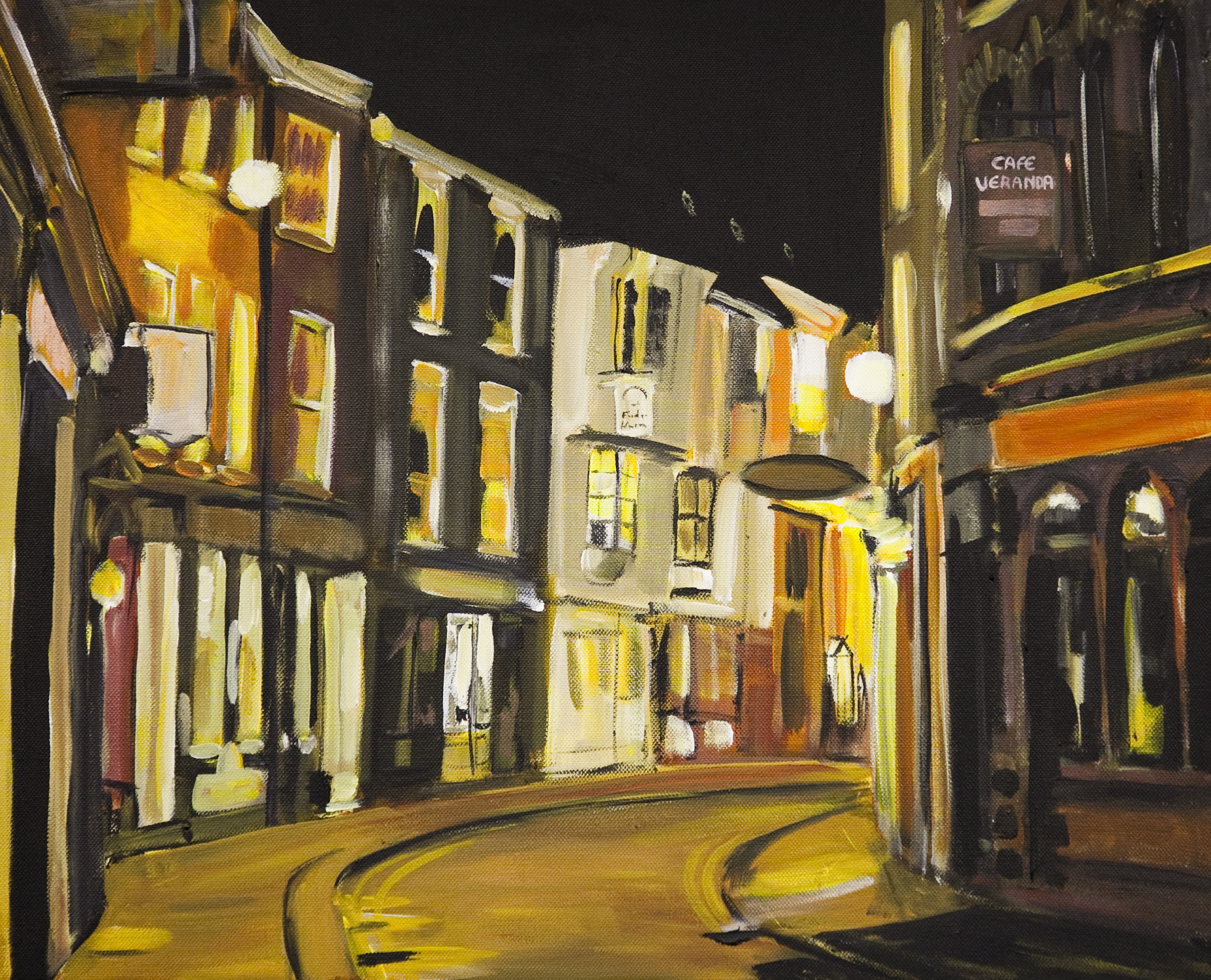 Painting of york low petergate angela wakefield for Wakefield house