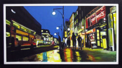 Painting of Oxford Street, London by Angela Wakefield