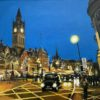 An original painting of Albert Square in Manchester by British Artist Angela Wakefield