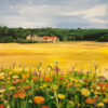 Painting of Burgundy, France by Angela Wakefield