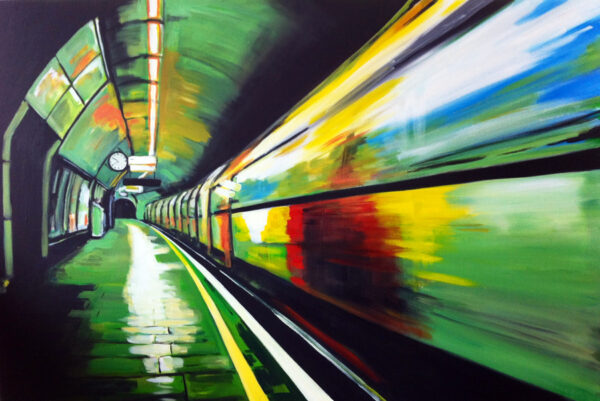 Painting of London Underground