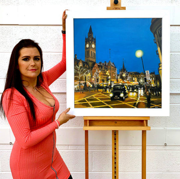 Albert Square Manchester by Angela Wakefield