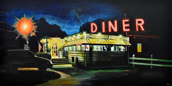 American diner angela wakefield for Diner artwork