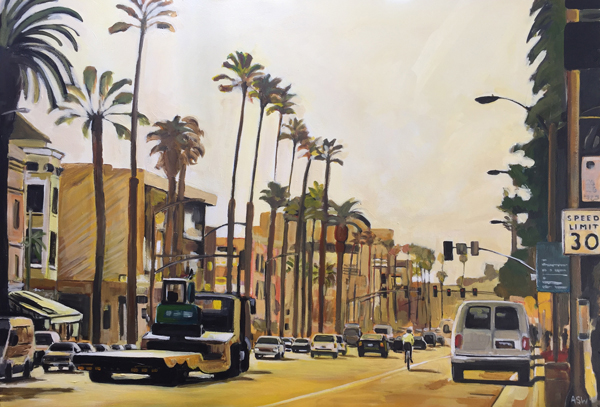 Painting of los angeles 03 california angela wakefield for Painting in los angeles