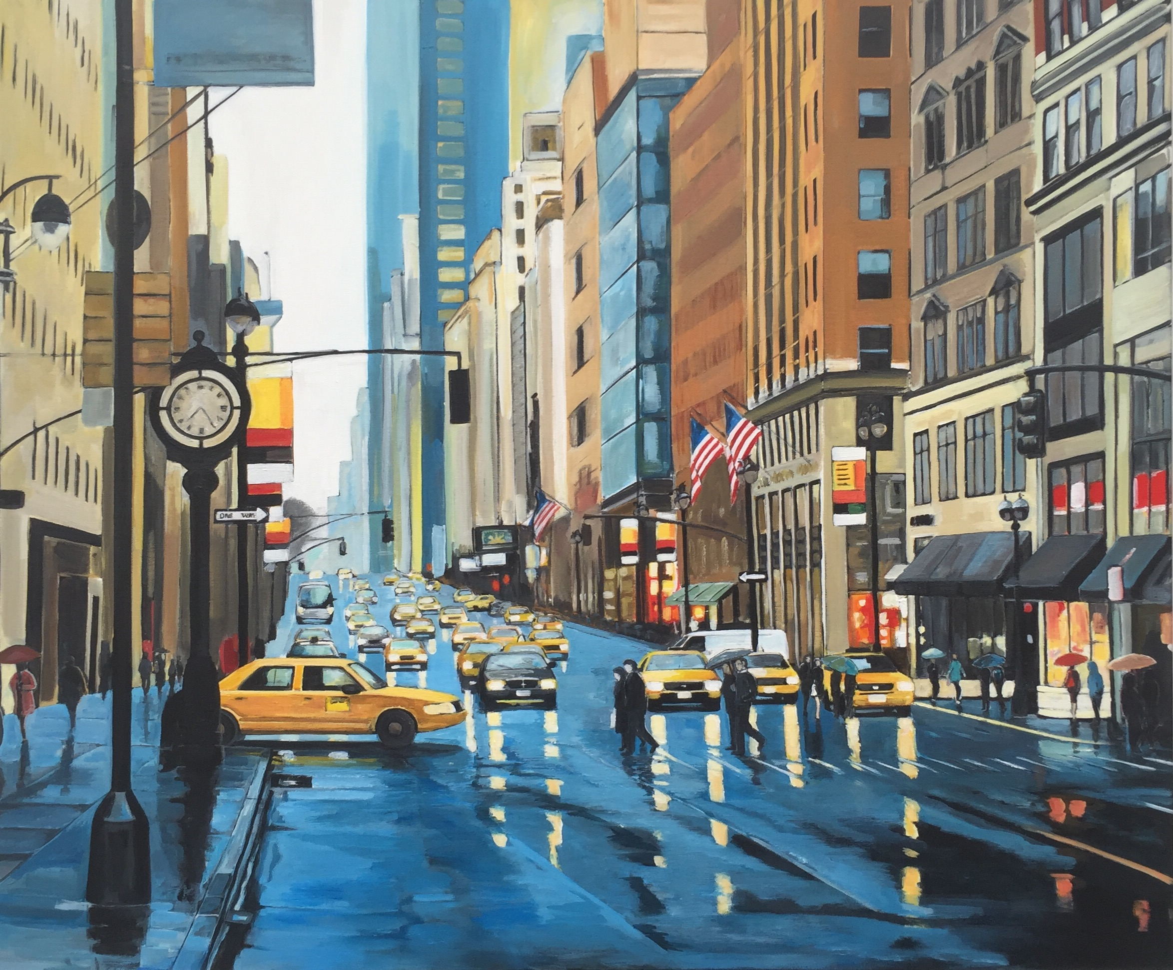 Painting of New York Rain