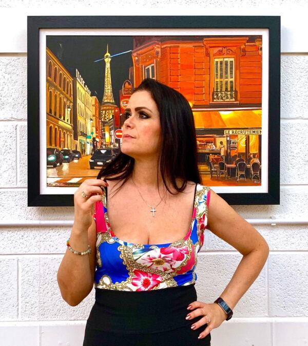 British Artist Angela Wakefield Painting of Paris