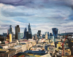 Painting of London, St. Paul's Cathedral Looking East