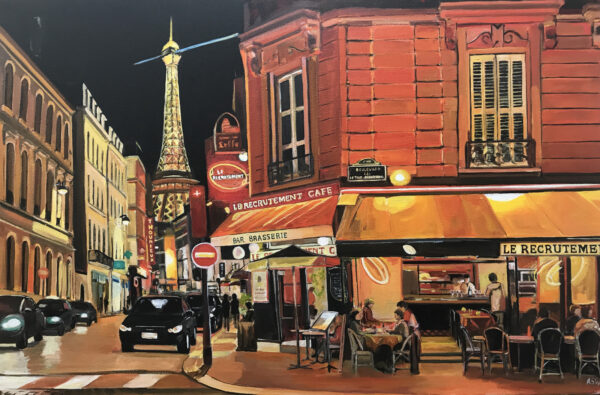 Paris Painting by Angela Wakefield