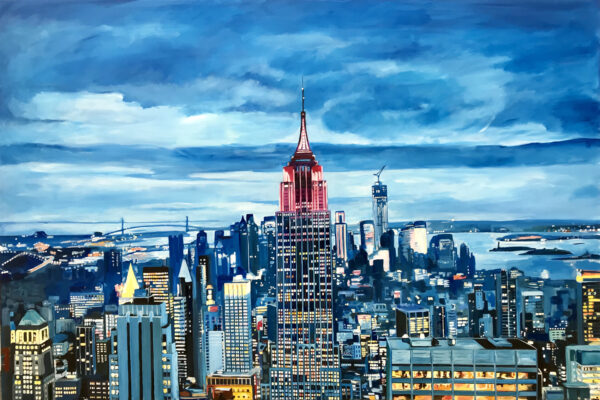 Empire State Cityscape Painting