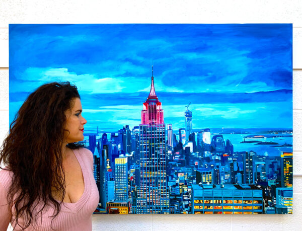 Painting of The Empire State Building in New York City by Angela Wakefield
