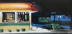 American Diner Painting by Angela Wakefield