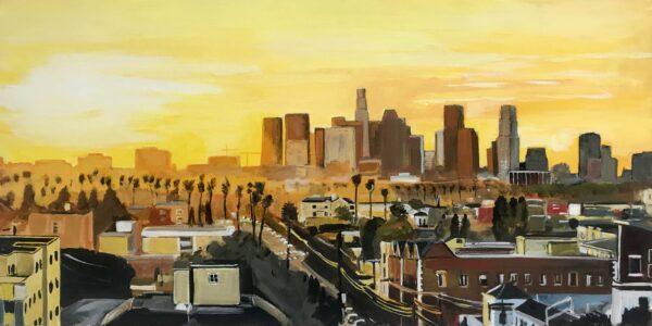Painting of Los Angeles by Angela Wakefield