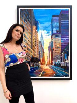 New York 42nd Street Cityscape Series by British Artist Angela Wakefield