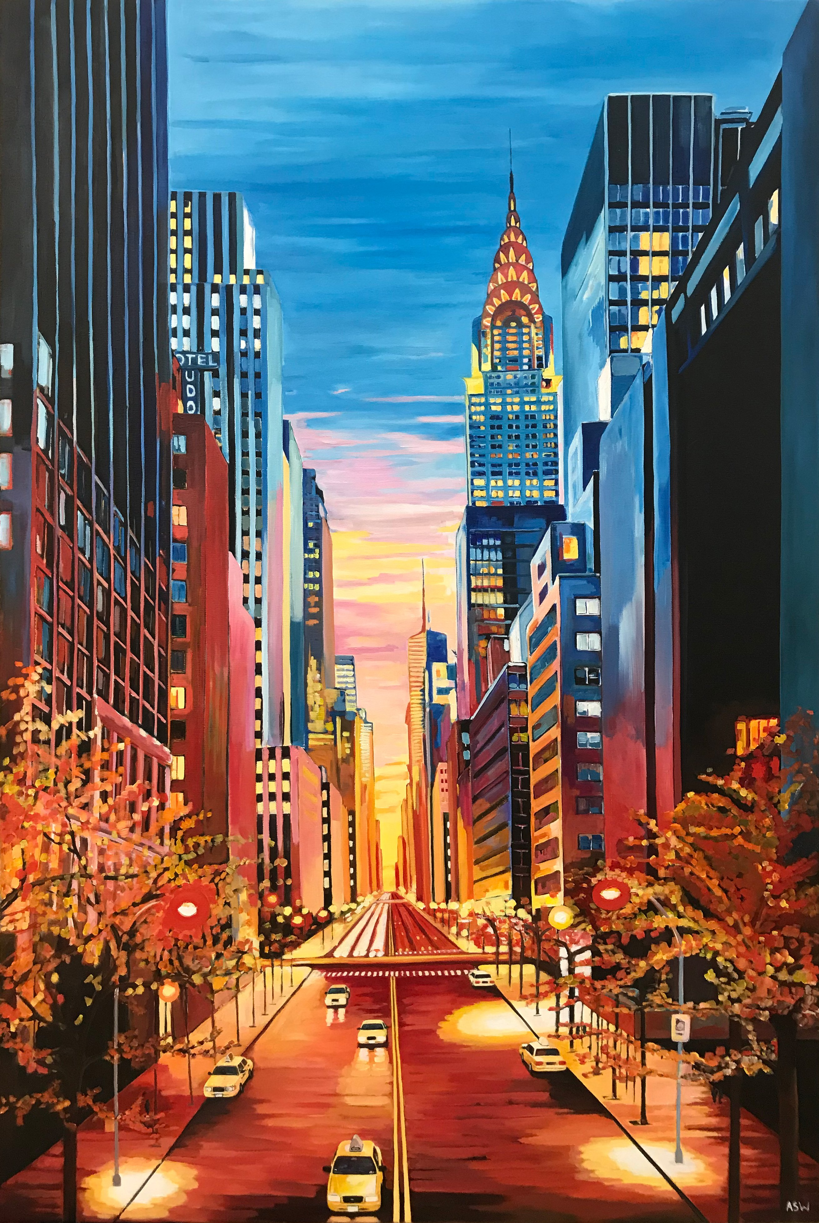 New York City Chrysler Building Painting By Angela Wakefield