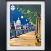 Painting of London Victoria Embankment with St Pauls Cathedral