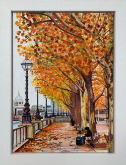 Angela Wakefield - Original Paintings of London Victoria Embankment