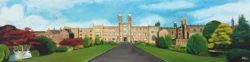 Stonyhurst College Painting by Angela Wakefield