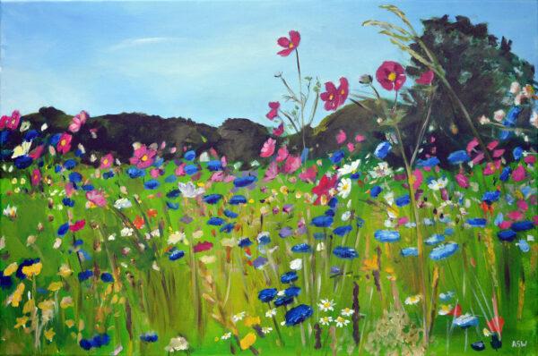 Wild Flowers in Brittany by Angela Wakefield